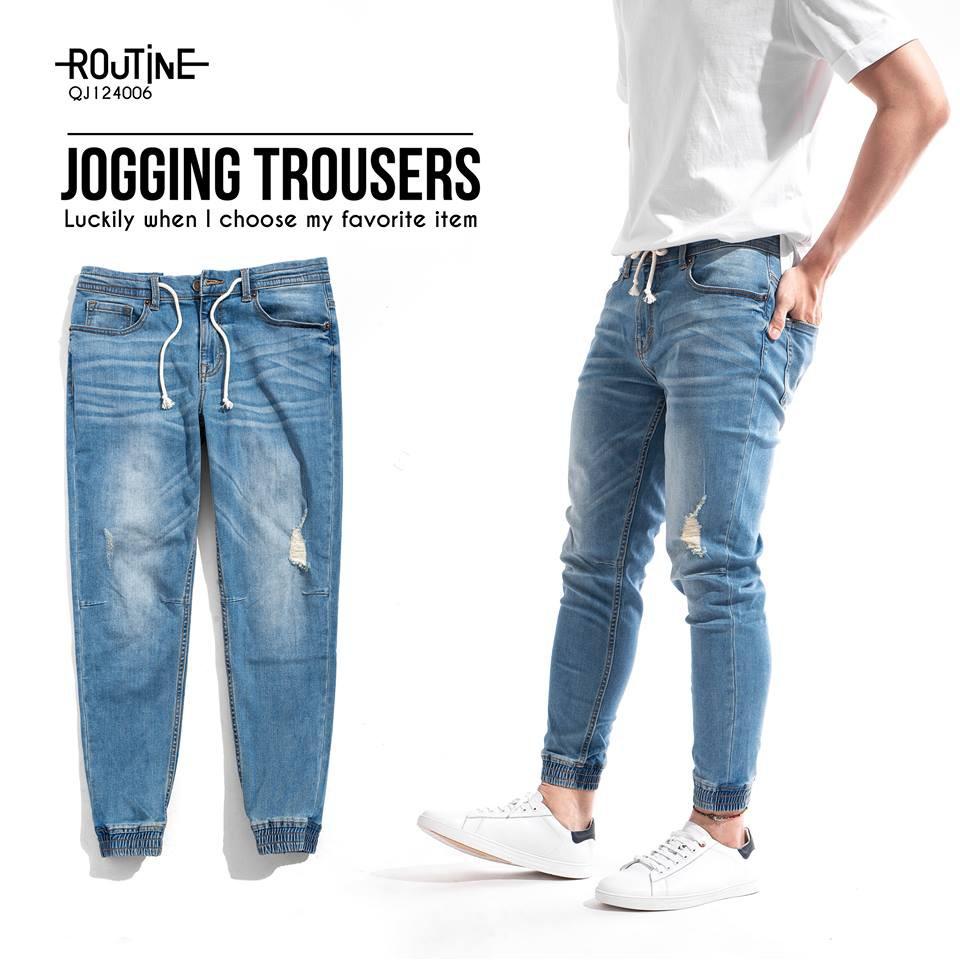 Quần Jogger Jean Routine - 1 chiếc quần jean jogger mạnh mẽ thời trang năng động đơn giản, tinh tế
