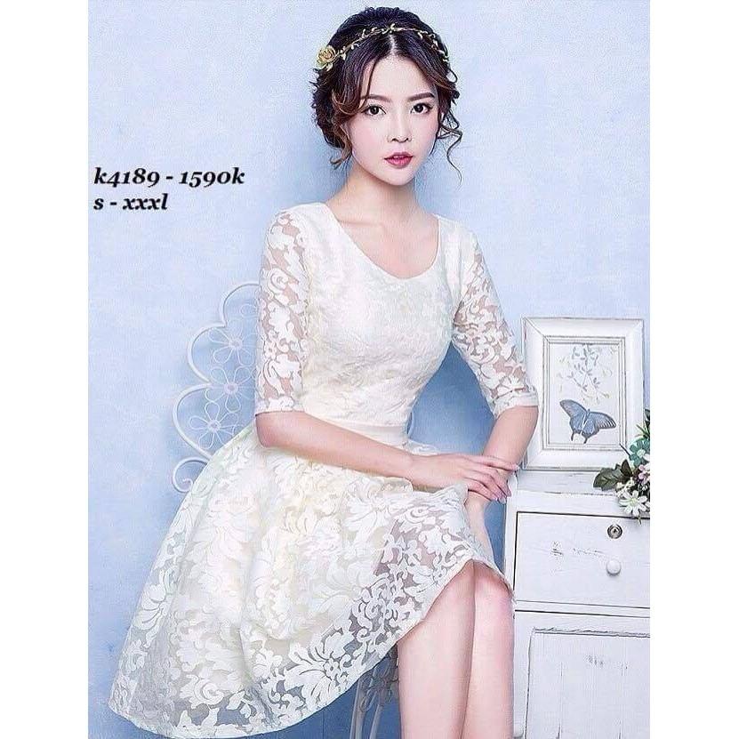 Đầm ren công chúa Chất ren Giá 290k