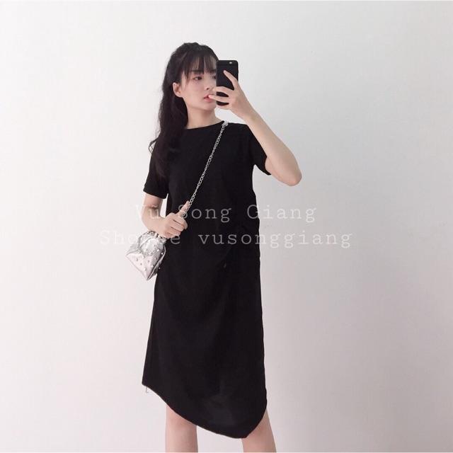[ẢNH THẬT SHOP TỰ CHỤP] Váy nhún vạt chéo