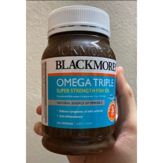 Dầu cá Blackmores Omega Triple Super Strength Fish Oil Úc 150