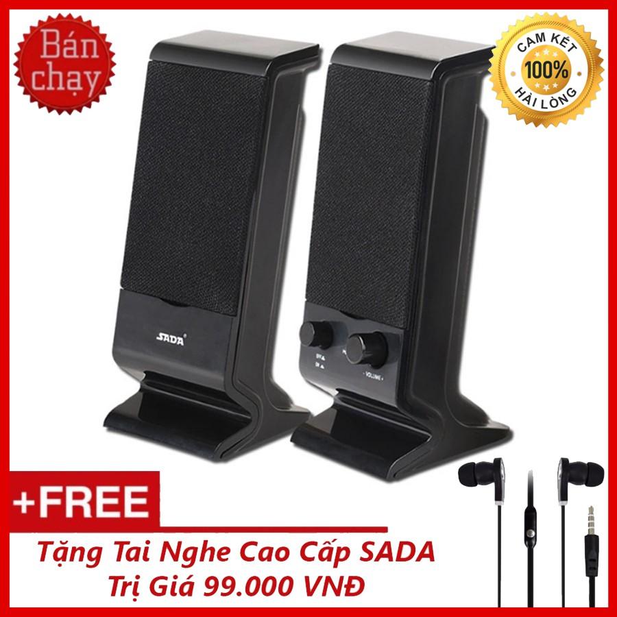 Bộ Loa Máy Tính USB 2.0 SADA V-112 + Tặng Tai Nghe Cao Cấp SADA
