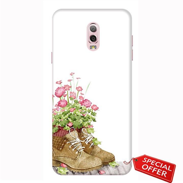 Ốp lưng Samsung J7 Plus – nhựa dẻo Silicone in hình Đôi giày hoa (Lovely Couples Art)