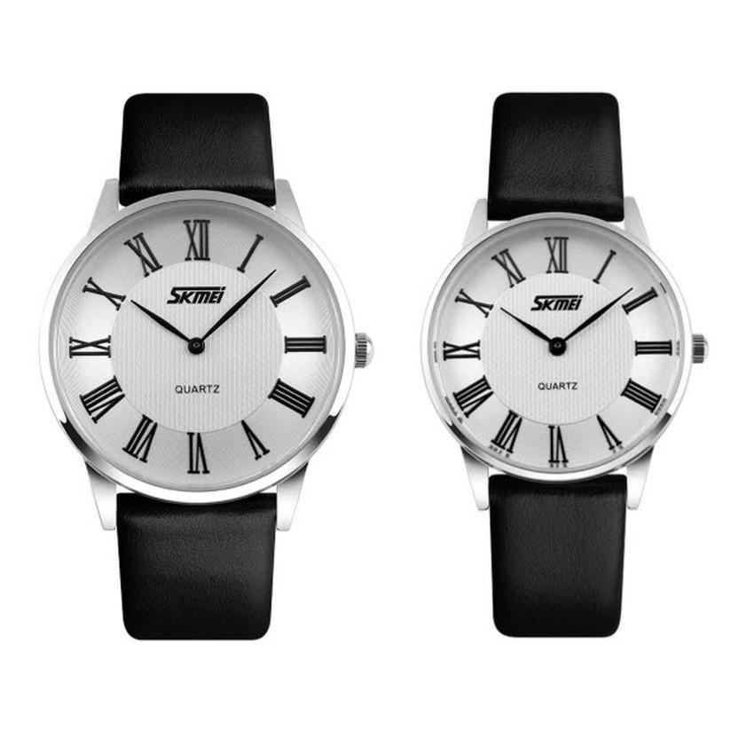 [Mã WTCHJAN giảm 20K ] Đồng hồ đôi Skmei 9092 (Có 2 màu lựa chọn)