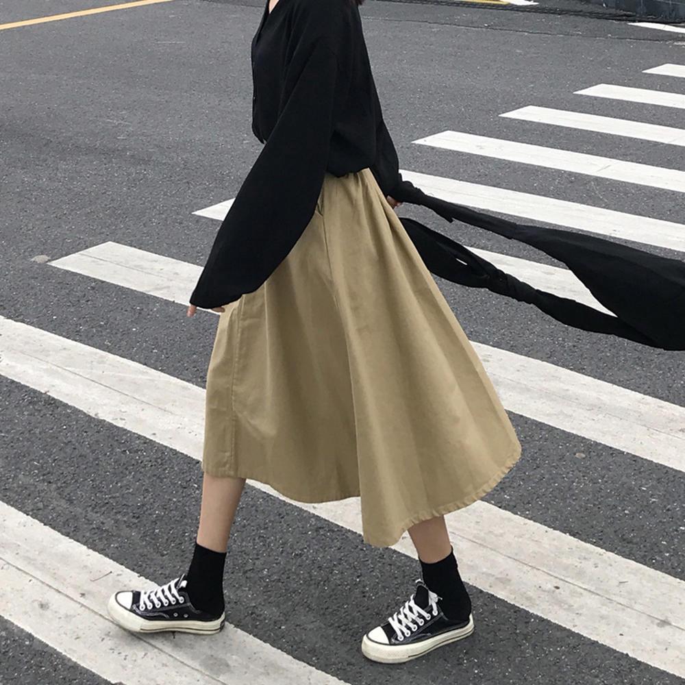 Chân Váy Dài Lưng Thun Dáng Rộng Thời Trang Cho Nữ