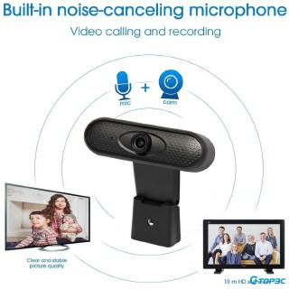 HD Webcam 1080P with Microphone, PC Laptop Desktop USB Webcams, Pro Streaming Computer Camera