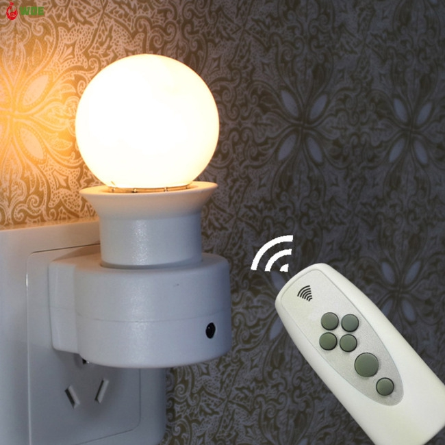 Intelligent Wall Light Socket Plug with Remote Control E27 220V