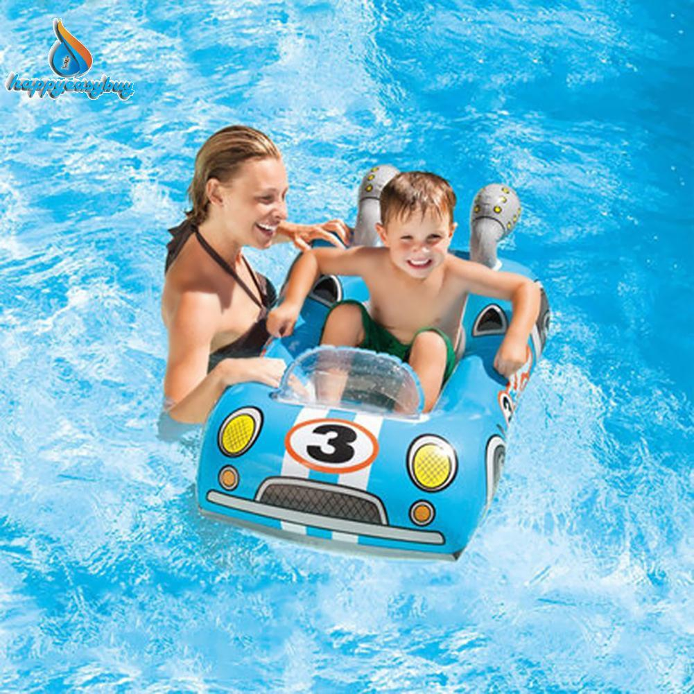 Child Swimming Ring Baby Pool Seat Float Aid Trainer Water Cartoon Boat