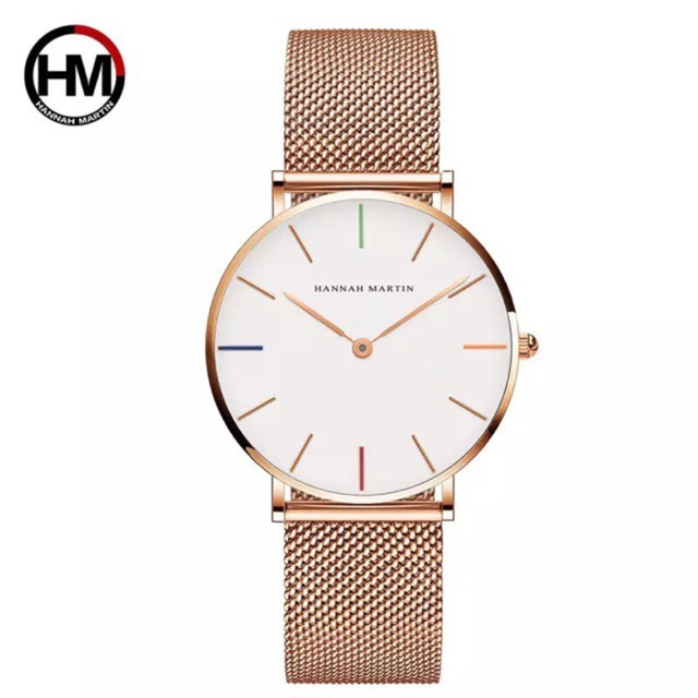 (Tặng nước hoa) Đồng hồ nữ Hannad Martin chính hãng 100% full box sịn sò nhé