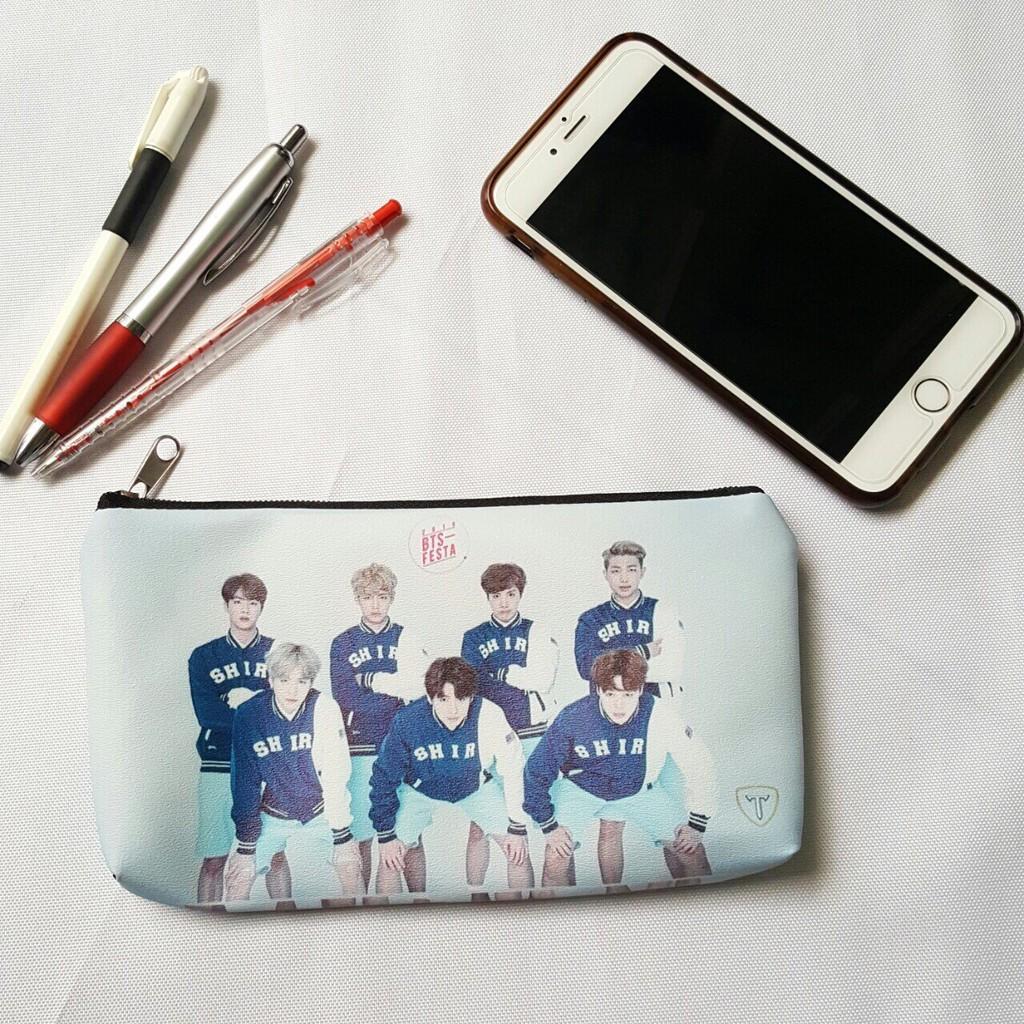 [TẶNG MÓC KHÓA] Ví đựng bóp viết tiền lẻ in hình BTS siêu cute 59542 - Ngố Store