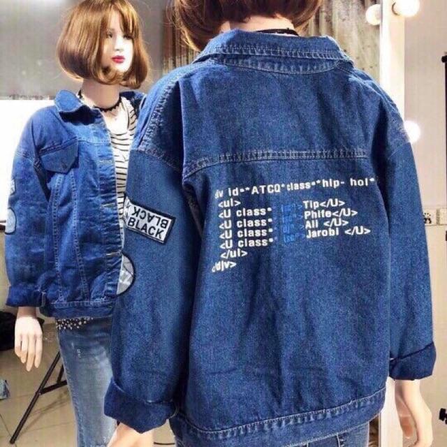 Áo khoác jean nữ cao cấp thời trang 958