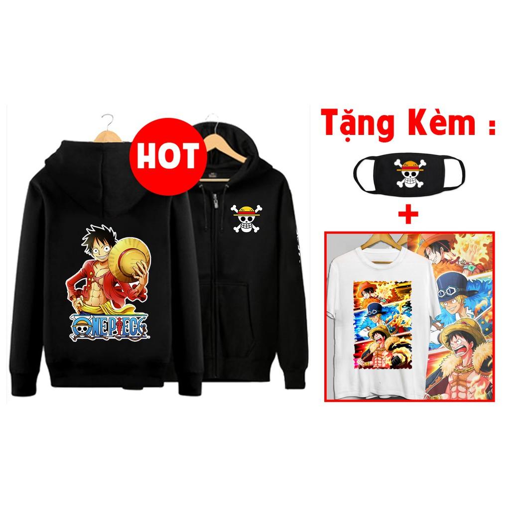 HOT Áo khoác Luffy One Piece giá rẻ nhất vịnh bắc bộ kèm áo thun bịt mặt One Piece