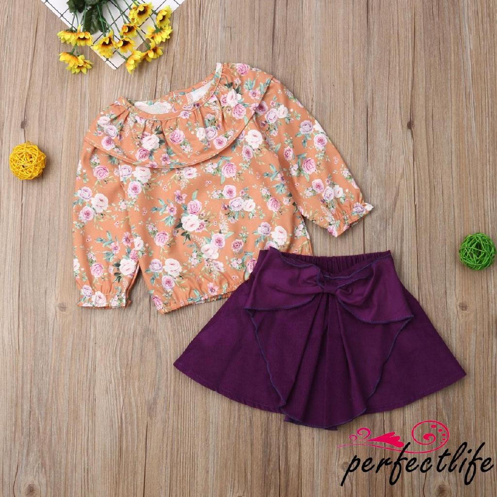Set áo thun ngắn tay cổ tròn + chân váy lưới tutu cho bé gái
