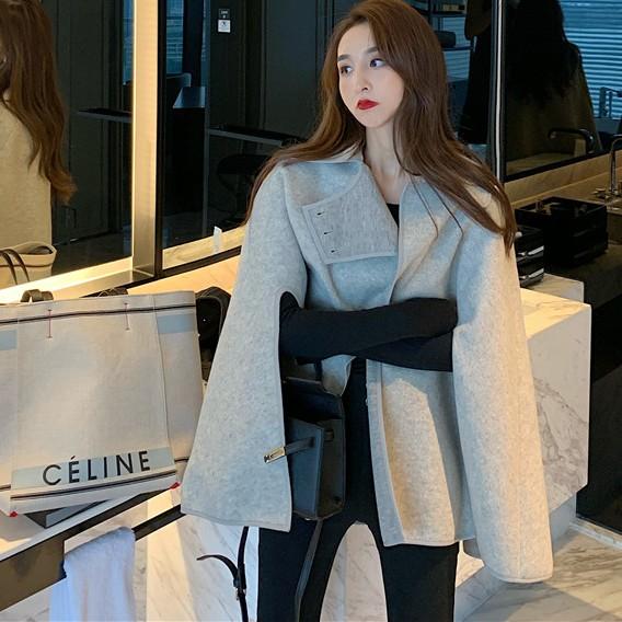 áo khoác len dáng rộng thời trang