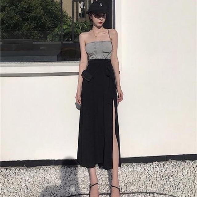 Chân váy xẻ tà hàng quảng châu siêu xinh