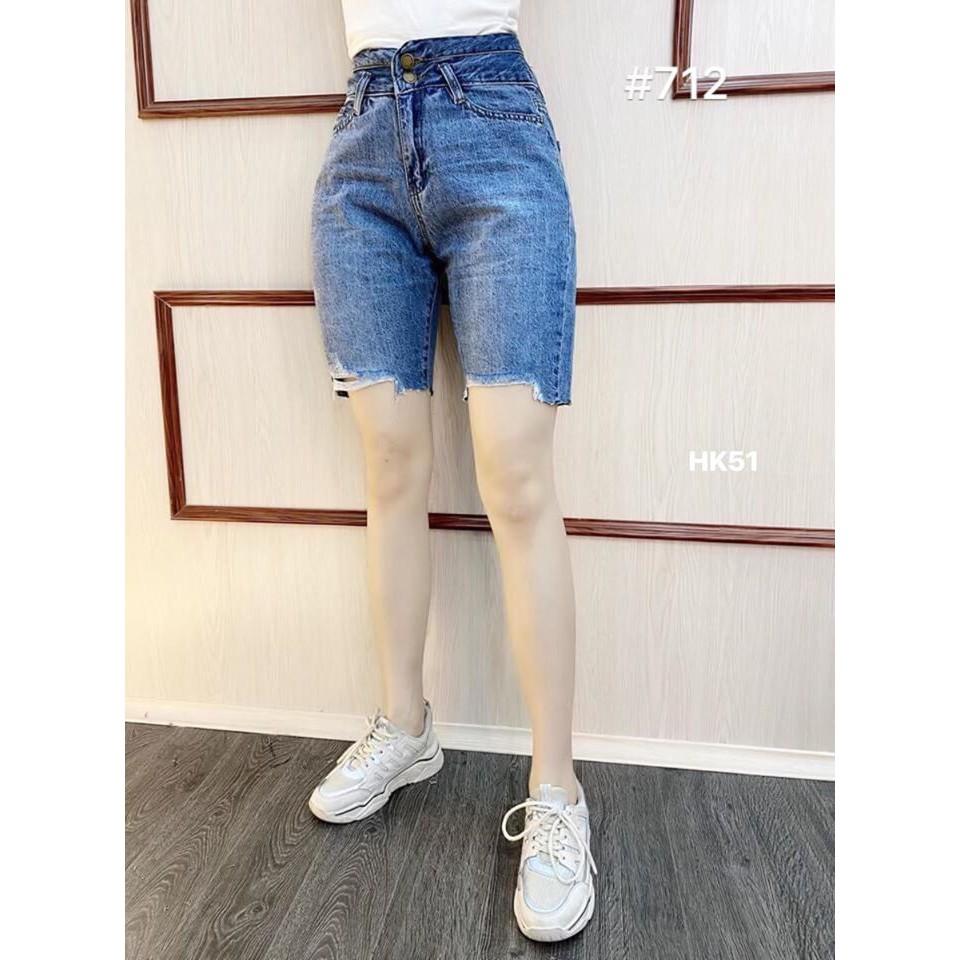 Quần jeans ngố rách Quảng Châu hót 2 màu HK51 - Pumi Shop - ảnh thật