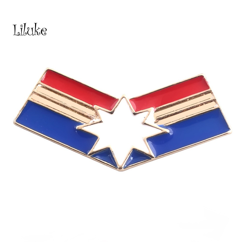 【LK】Avengers Captain Marvel Brooch Pin Badge Clothes Coat Decor