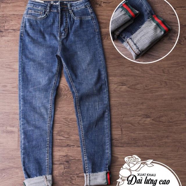 Quần Jeans Nữ Logo Xước Ulzzing
