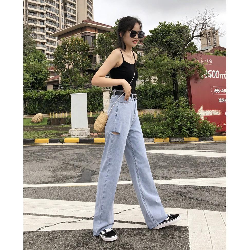 Quần jeans cạp cao - quần bò ulzzang