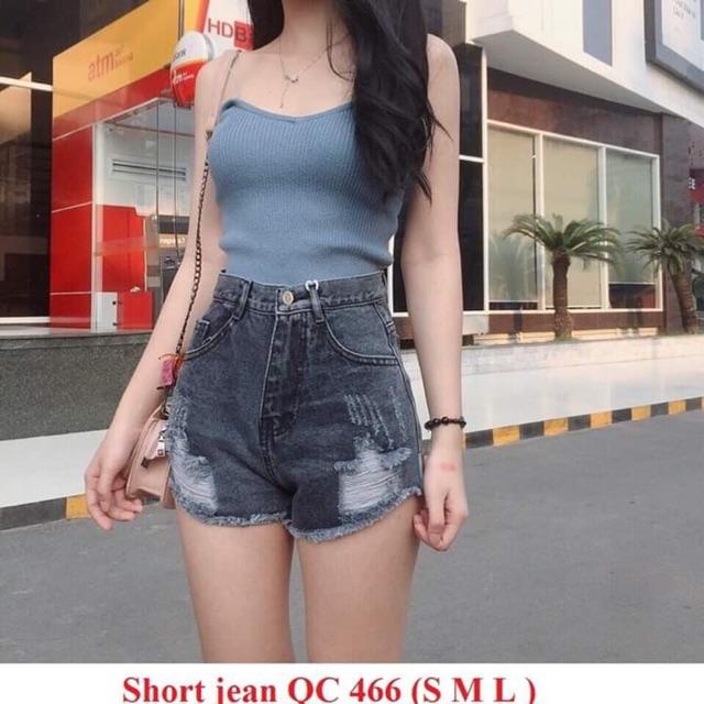 Short jean (bò) rách hàng Quảng Châu - Ms466