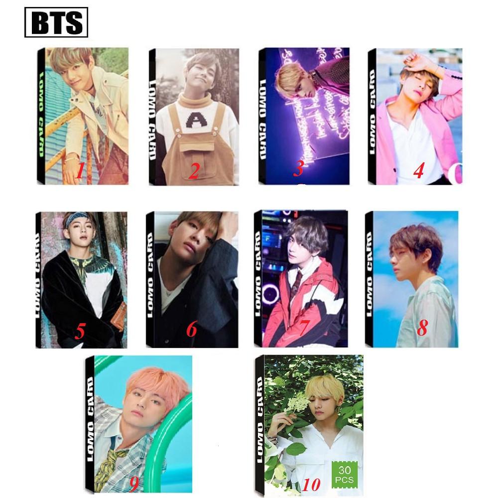 TRỌN BỘ 10 MẪU Lomo Card TAEHYUNG(V) BTS BAND - Shopee
