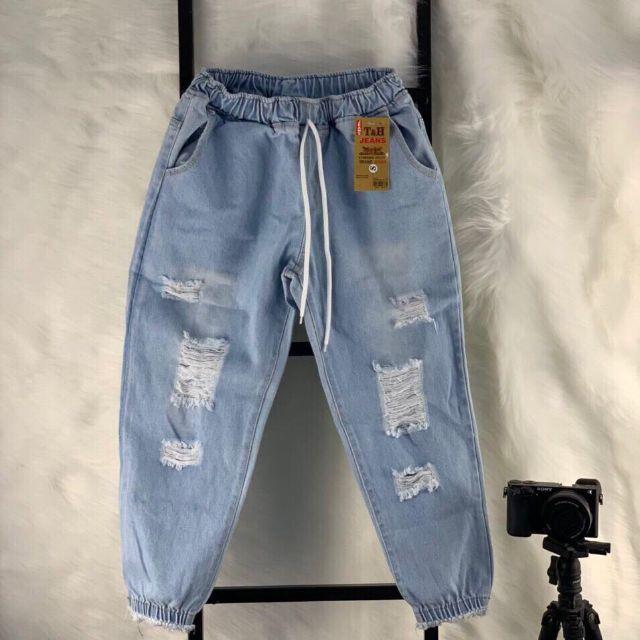 [Đẹp-Rẻ]Quần Jean baggy chun