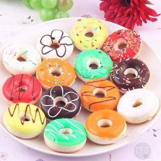 1pc Colorful Cute Mini Donut Soft Squishy Charm Wallet Phone Rope With K Chain Creative Chain 968