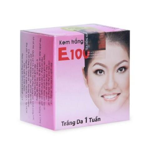 Kem Dưỡng trắng da E100 cô gái Việt hộp 4g
