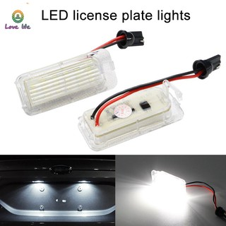 VN 2Pcs LED Xenon White Number License Plate Light Lamp For Ford Fiesta Focus Mondeo