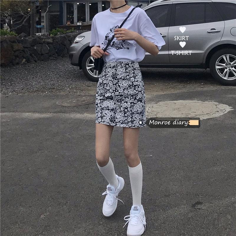 Chân Váy Hoa Lưng Cao Xinh Xắn Cổ Điển Dành Cho Nữ 2020