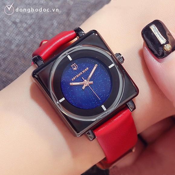 [Mã WTCHJAN giảm 20K ] (Sang trọng) Đồng hồ nữ OSTRICH KING Hàn Quốc + Tặng hộp & Pin