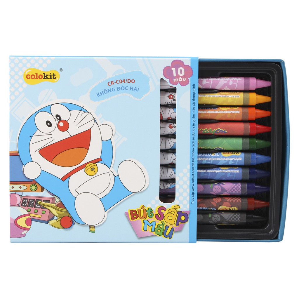 Sáp màu Colokit Doraemon CR-C04/DO - Shopee