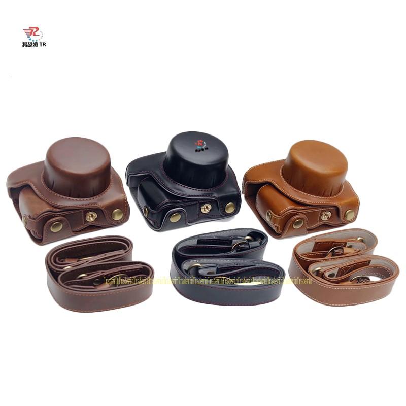 Túi da sang trọng cho Nikon1 J5 với ống kính 10-30mm