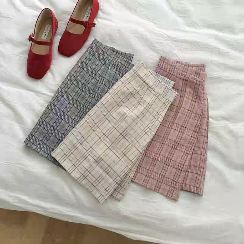 Chân váy ngắn kẻ sọc dáng A Style Hàn Quốc (ORDER) -Kèm ảnh thật