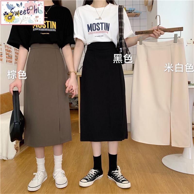 Chân Váy Dài Lưng Cao Xẻ Tà Thời Trang Cho Nữ