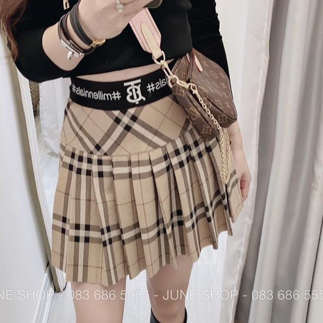 Chân váy xếp ly Tennis Skirt Chữ A Dáng Ngắn