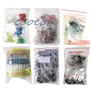 Capacitor Resistance kit Lot 1390pcs Electronic Components LED Diode Transistor Supplies Replacement Industrial