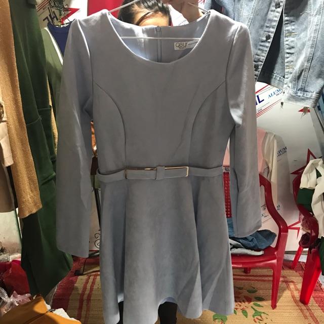 Đầm da lộn