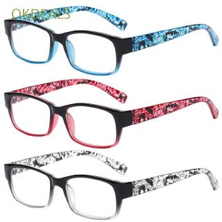 OKDEALS Magnifying Print Flower Ultra Light Resin +1.00~+4.0 Diopter Eye wear Reading Glasses