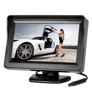 S&W Universal 12-24V Car Vehicle Backup Camera System 4.3 inch TFT Color LCD Reverse Rear View Security Monitor & Waterp