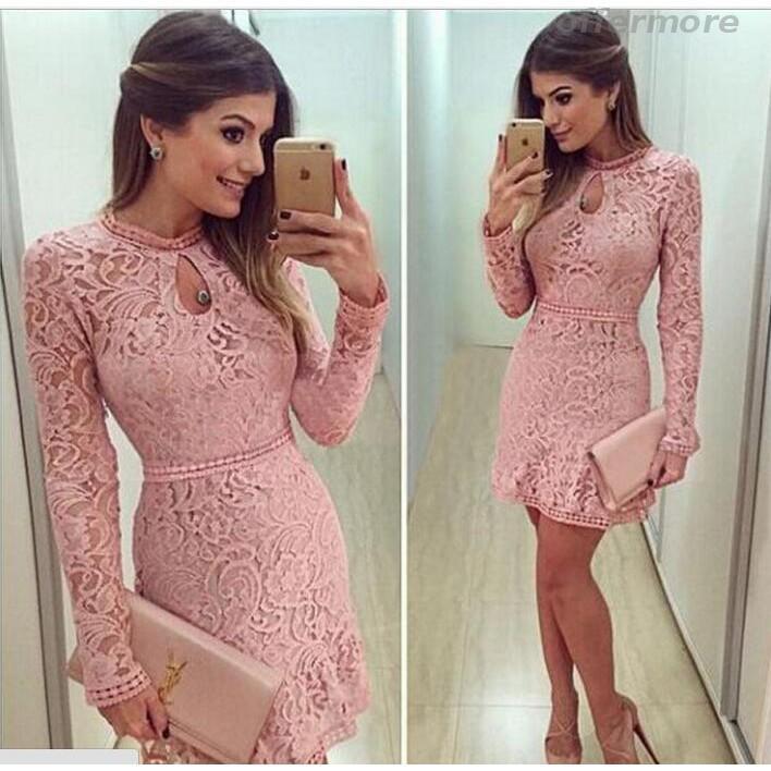 Đầm Ren Cổ Tròn Tay Dài đầm rộng đầm tay dài váy suông đầm chấm bi đầm boho đầm lolita váy lép đầm cổ vuông đầm xoè