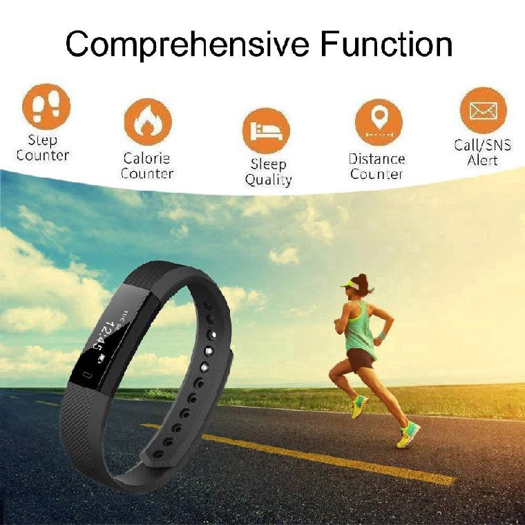 SL ID115 Smart Bluetooth Bracelet Tracker Fitness Wrist Watch Heart Rate Monitor