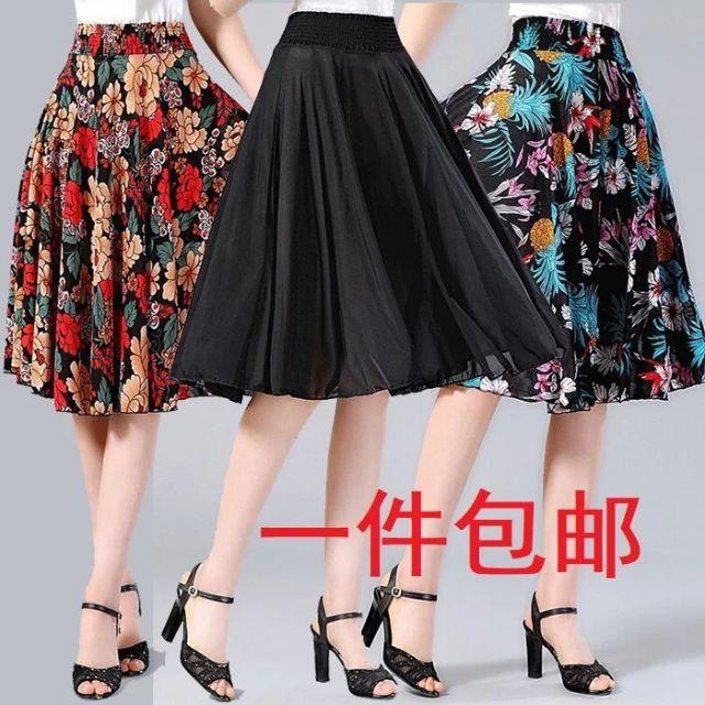 Chân váy xòe dài nhiều mẫu