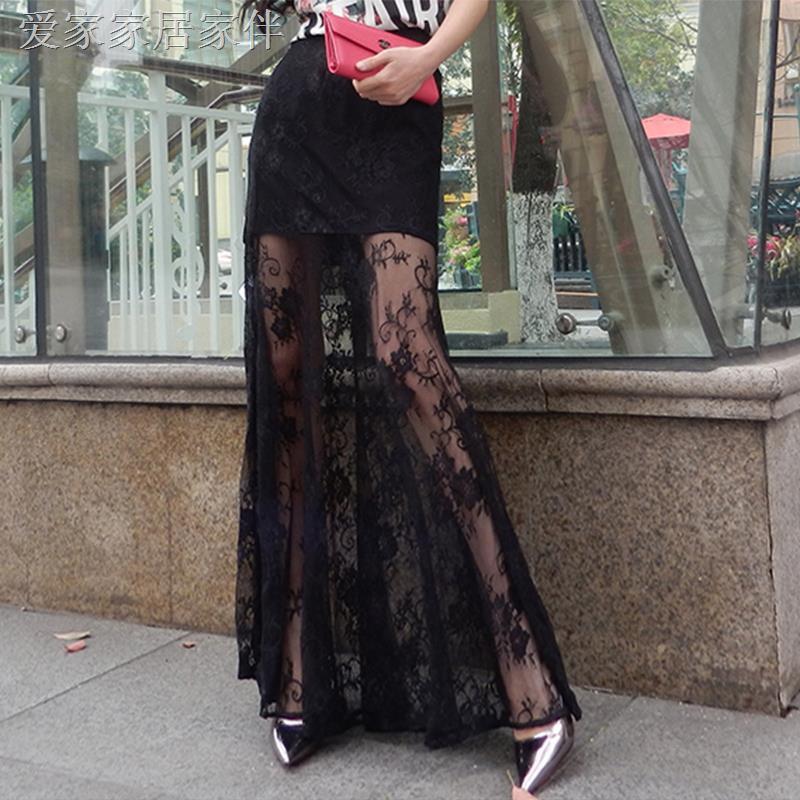 Chân Váy Ren Mỏng Lưng Cao Cỡ Lớn Thời Trang Mùa Thu Cho Nữ