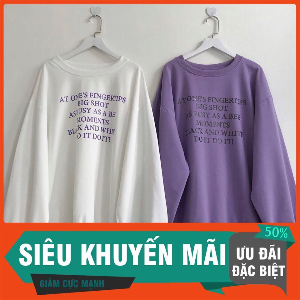 [SALE OFF 50%] Áo SWEATER DO IT OVER Unisex ( Tím/Trắng ) , áo thun, áo khoác, quần short