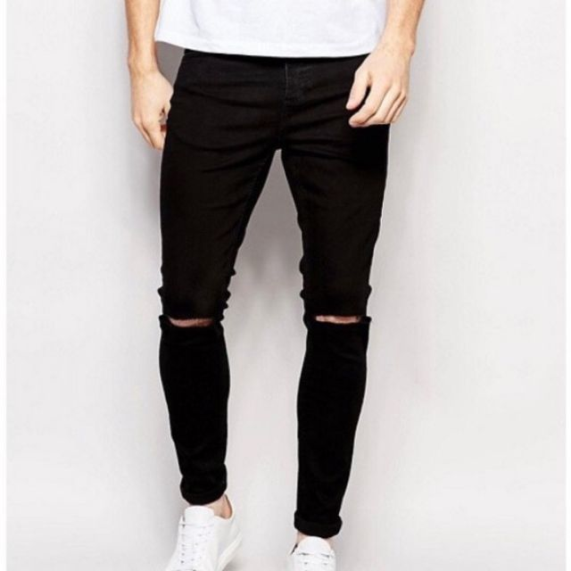 Quần jean nam đen cao cấp dáng hàn quốc (2 kiểu)