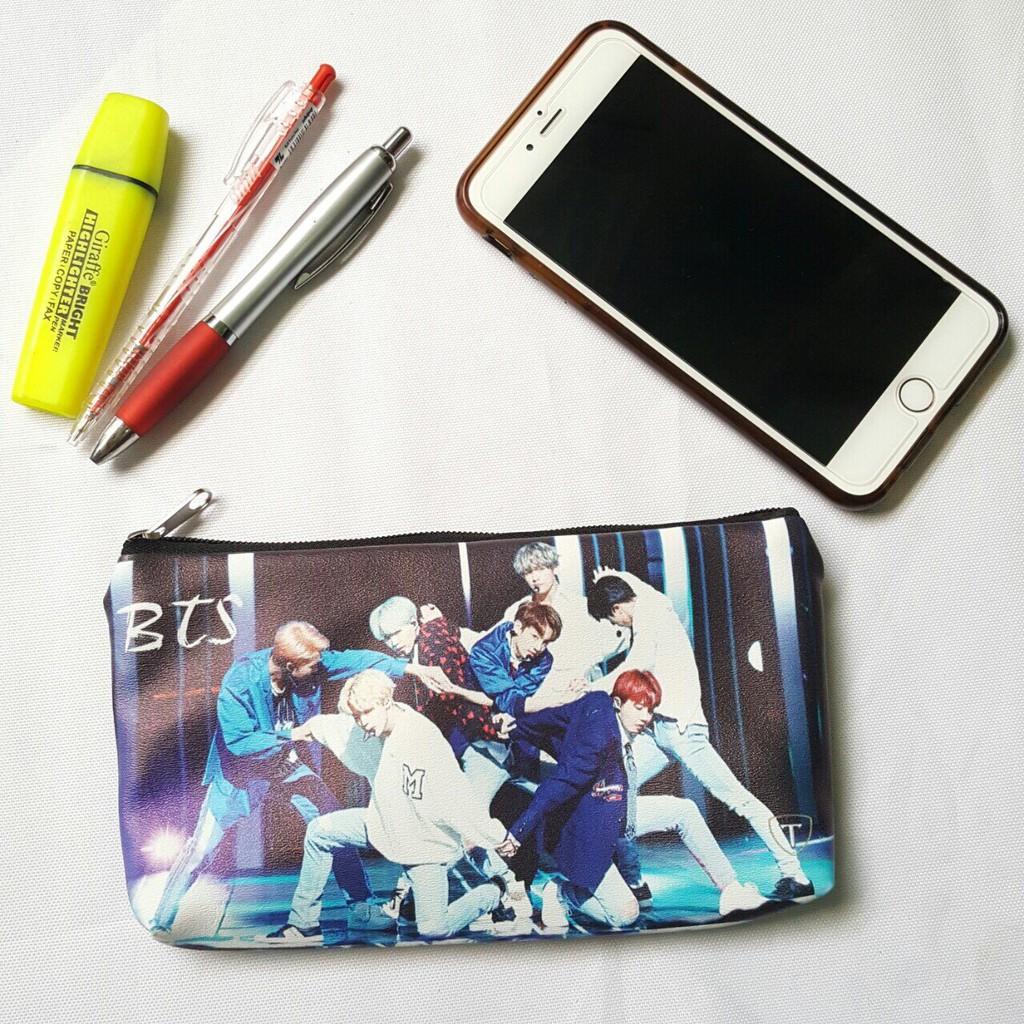 Ví đựng bóp viết tiền lẻ in hình BTS siêu cute 58874 - Ngố Store