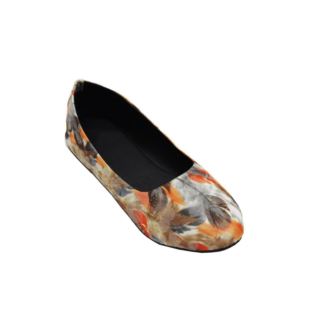 Giày búp bê họa tiết lông chim 92267