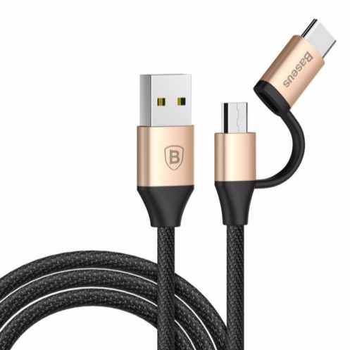 Cáp sậc nhanh đa năng 2 in 1 Micro - Type C Baseus Data sync Fast Charging USB Cable