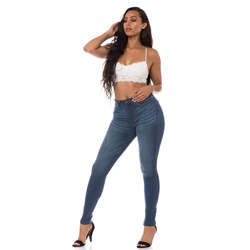91 ANinetyOne - Quần Jeans Nữ Skinny 901 (Xanh)