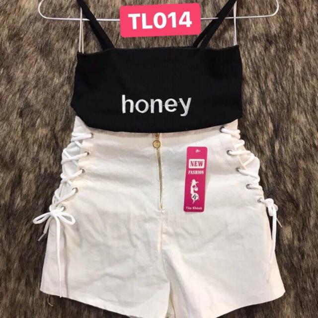 Sét bộ áo 2 dây honey Mã : TL014